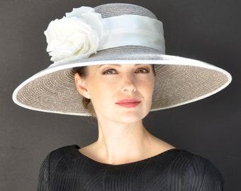 Wedding Hat, Ascot Hat, Formal Hat, Derby Hat, Taupe Hat, Ivory Hat, Dressy Hat, Church Hat