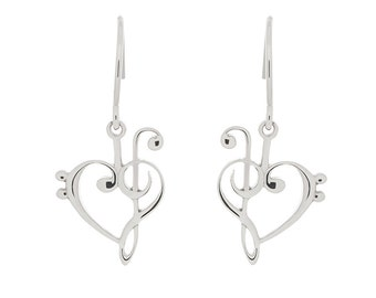 Treble and Bass Clef Earrings w/ French Wire Hooks
