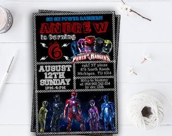 Power Ranger Invitation, Power Ranger Birthday Invitation, Power Ranger Party, Power Ranger Birthday Party, Power Ranger Party Invite 2