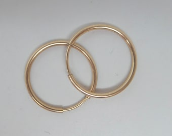 Gold filled endless hoop earrings. 17 mm. Price for the pair. GFER40