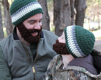 SALE!! Father/Son ULTIMATE Bearded Beanies!