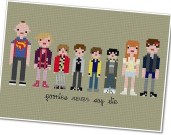 The Goonies - The *Original* Pixel People - PDF Cross-stitch Pattern - INSTANT DOWNLOAD