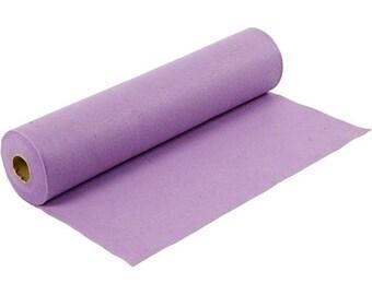 Synthetic, light purple felt leaf, size: 100 cm * 45 cm, thickness 1.5 mm 180-200 g/m2