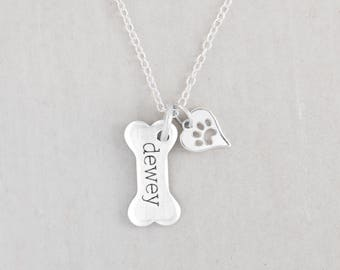 Dog paw necklace etsy dog lover gift dog mom gift puppy necklace dog paw jewelry paw mozeypictures Gallery