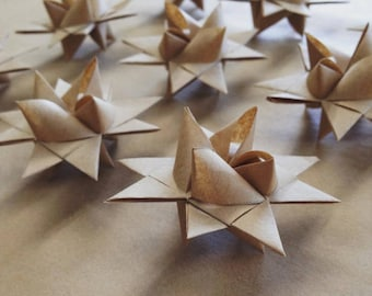 Origami Froebel Star Decorations