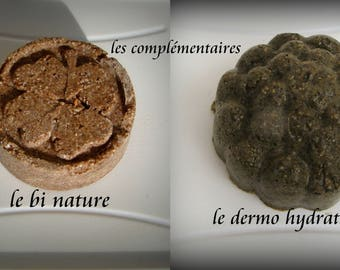 Natural solid shampoo, scalp and dry hair, the complementary duo, the BI NATURE and the DERMO MOISTURIZER45,65gr