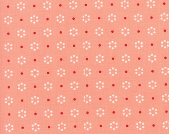 Sale! Dot in coral, The Good Life by Bonnie and Camille for Moda 55152 23