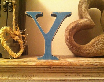 Wooden Standing Letter 'Y' - Georgian Style - 25cm - various colours and finishes