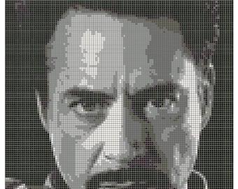 Tony Stark - Cross Stitch Patter