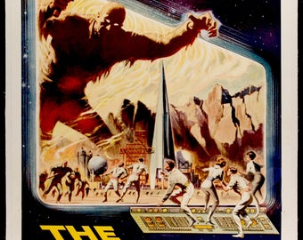 "Original Movie Poster - Time Travelers (1964) Original Three Sheet Movie Poster - 41"" x 81"""