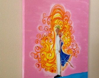 El Baile Hand Painted Canvas Wall Art By Janie