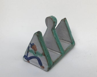 Tintagel Pottery Toast Rack - Cornwall - Rare & Sought After