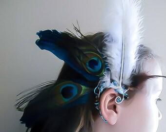Feather Earcuff - Native American Earcuff - Wedding Earcuff - Wedding Earring - Tribal Earcuff - Wedding Earcuff - Wedding Earring