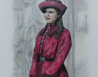 CUSTOM PORTRAITS - Full Color Family Portrait DRAWINGS - Colored Pencil and Pastel Drawings - Sample showing is Fan Art