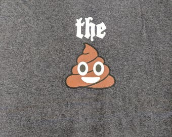 emoticon - the poop (men) ribbed crew neck t-shirts