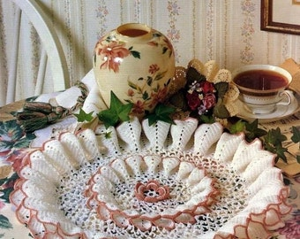 INSTANT DOWNLOAD Vintage  fine thread crochet doily pattern, pleated doily