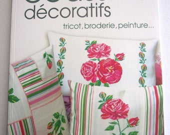 New book - decorative pillow - knit embroidery painting