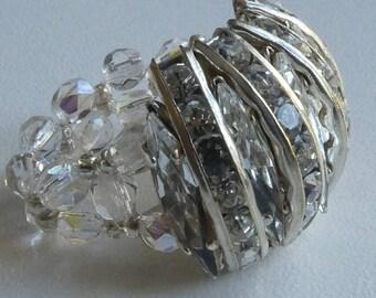 RING size 58/59 Swarovski rhinestones
