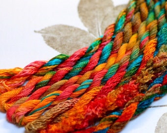 Silk  Embroidery Thread for Needlework, Embroidery, Stumpwork hand dyed in Kimberly Dreaming
