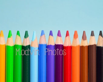 Colored Pencil Photo, Object Art, Modern Art, Colorful Photograph, Pencil Photos
