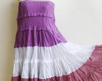 S2, Wavy Summer Spring Sexy Purple Cotton Skirt, purple skirt