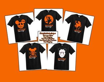 Disney Halloween Shirts, Disney Halloween family Shirt, Free Shipping