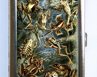 Frogs Cigarette Case Wallet Business Card Holder zoology