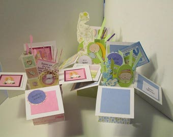Baby Shower Mother to Be Greeting - 3 variations Pop up Exploding Box for  Girl or boy Free Shipping in USA