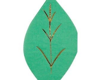Leaf Napkins (16), Meri Meri, Spring And Summer Party Napkins, Botanical