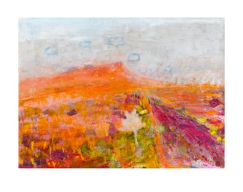 Red Savanna, Fine Art Print, Limited Edition, Giclee, Signed and Numbered, Landscape, Modern Art, Interior Design