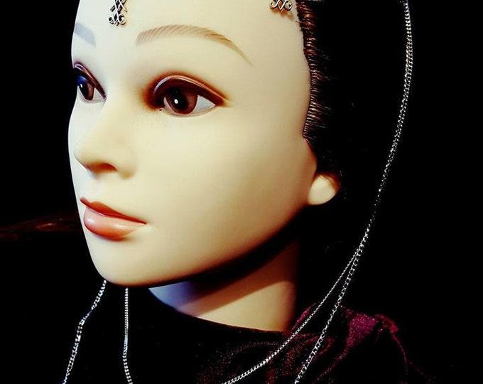 Luciferian Headpiece | Tiara - occult lucifer chains sigil of lucifer eternity illumination illuminaty accessory goth gothic