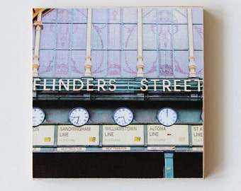 Melbourne Flinders Street Coaster for Tables/ Home Furniture or as Wall Art/ Giftware
