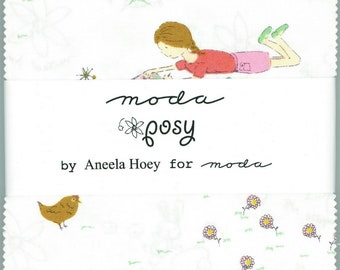 Posy Mini Charm Pack by Aneela Hoey for Moda- OOP- HTF