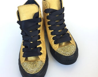 Gold Rhinestone Custom Converse