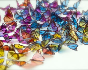 100 transparent butterflies decor