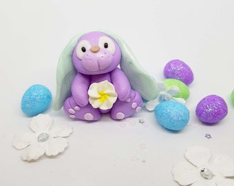 bunny decoration, bunny baby, cute bunny, decoration, purple, spring decoration, bunny decor, bunny present for girl, rabbit