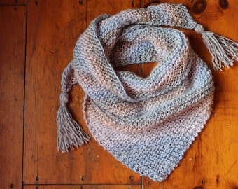 Gradient Triangle Scarf with Tassels