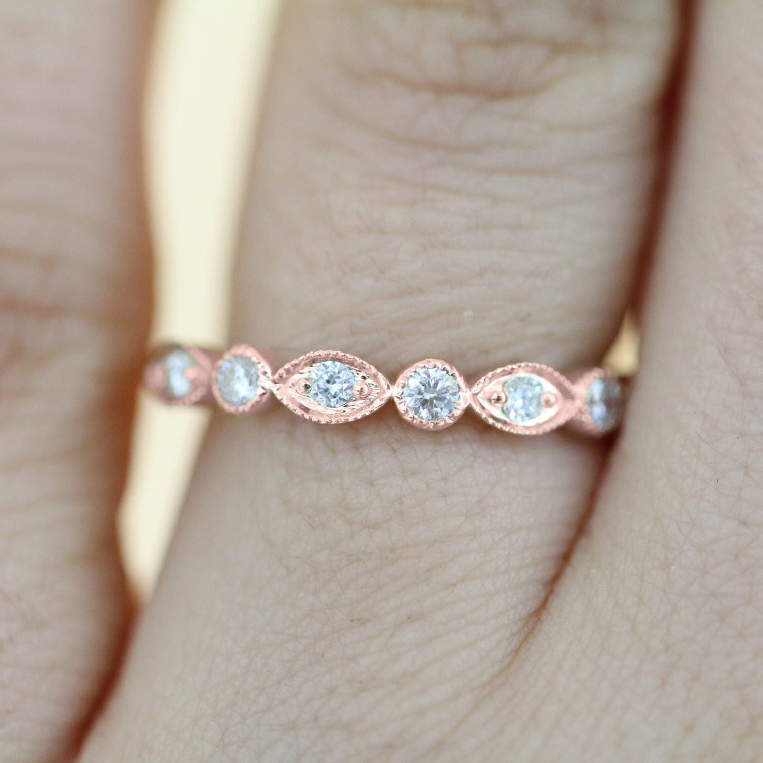band amp wearing bands engagement full jewelry of rings fine diamond stock ring with new wedding