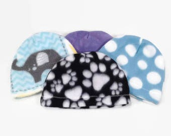 Baby boy hat, baby girl hat, baby girl, baby boy,  preemie hat,  hat for newborn, new baby hat, fleece baby hats, elephant hat