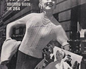 ON SALE Vintage 1940s - Paton's Knitting Pattern No 264 For Women/Ladies - Original Pattern
