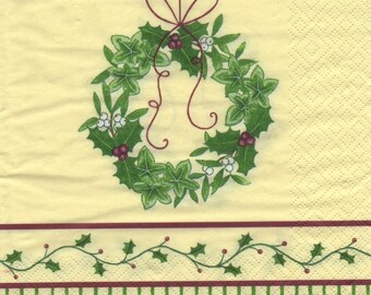 3205 - Set of 5 Christmas themed paper napkins