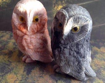 Owl Soap, Bird Soap, Bird of Prey Soap, Bath Soap, Gift Soap, Novelty Soap, You pick scent & color