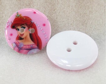 Set of 5 Princess ARIEL Disney buttons
