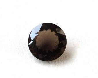 1 pieces 17mm SMOKY QUARTZ Faceted Round Loose Gemstone..... Smoky Quartz Round faceted Loose Gemstone, Smoky Faceted Round Gemstone