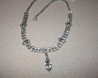 Kramer Rhinestone Necklace Costume Vintage Jewelry #b115