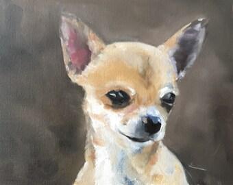 Chihuahua Painting Chihuahua Dog Art PRINT Chihuahua Dog - Art Print - from original painting by J Coates