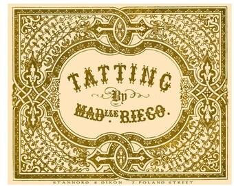 The Tatting Book by Mdlle Riego de la Branchardiere c.1850 Antique Needle Tatting Method