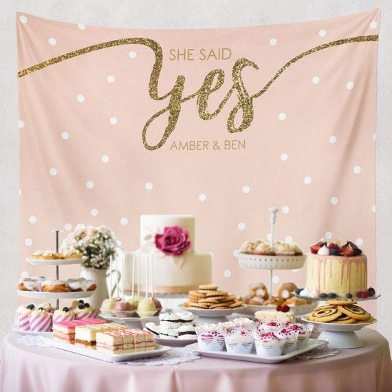 she said yes bridal shower decorations engagement decor