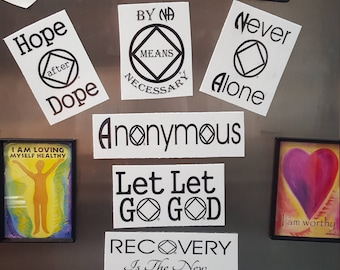 Multi pack of 3 Narcotics Anonymous magnets
