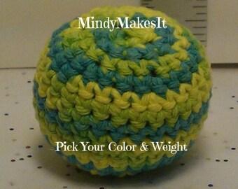 Hacky Sack, Ombre Colors (Footbag, Hackey Sack, Hackysack, Stress Ball, Juggling Ball, Bean bag, Amigurumi sphere, game, toy) MindyMakesIt